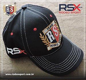 Boné RSX Rodeo Sport Preto e Vermelho