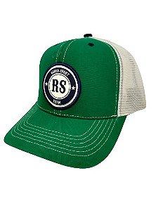 Boné Rodeo Sport RS Team Verde e Branco Tela