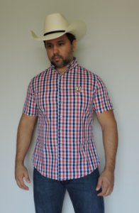 Camisa Rodeo Sport Xadrez Manga Curta RS02