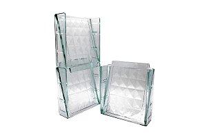 Bloco de Vidro Elemento Vazado Veneziana Diamante 20x20