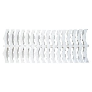 Kit 10 Metros Grelha Plástica Flexível Para Piscinas - 20 Cm