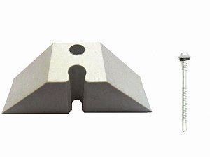 10 Calços Telha Trapezoidal Onda 40 + Parafusos 8,5 cm