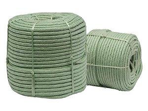 Corda de Poliéster Trançada Verde 6mm x 180m