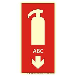 Placa Sinalização Extintor De Incêndio Abc Fotoluminescente