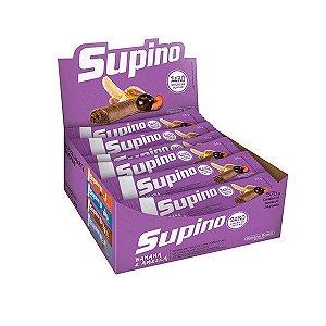 Barra De Frutas Supino Zero Banana E Ameixa Com Chocolate Ao Leite Com 24 Unidades De 24g Cada