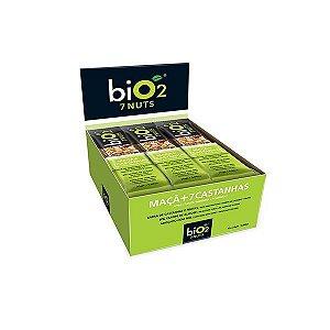 Barra De Castanhas E Frutas Bio2 7nuts Maçã Com 12 Unidades De 25g Cada