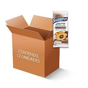 Bolinho Suavipan  Zero Açúcar Baunilha Recheado Com Chocolate, Contendo 12 Unidades De 40g Cada