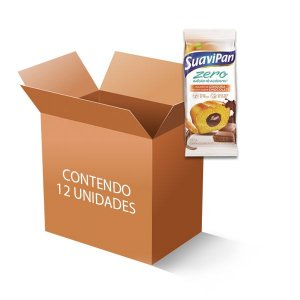 Bolinho Suavipan  Zero Açúcar Cenoura Recheado Com Chocolate, Contendo 12 Unidades De 40g Cada
