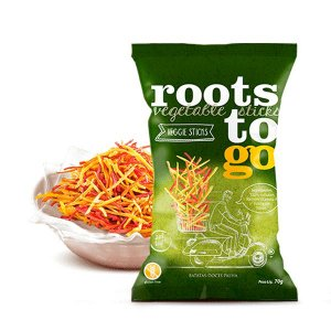 Snack Sweet Potato - Veggie Sticks Palitinhos De Batatas-doces Roots To Go 45g