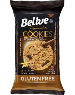 Cookies Belive Be Free Baunilha com pedaços de Chocolate Sem Glúten 34g