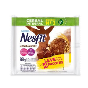 Biscoito Nesfit Nestle Integral Cacau E Cereais Contendo 4 Pacotes De 22g Cada
