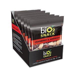 Snack Cranberry E Amêndoa Bio2 Contendo 6 Pacotinhos De 50g Cada