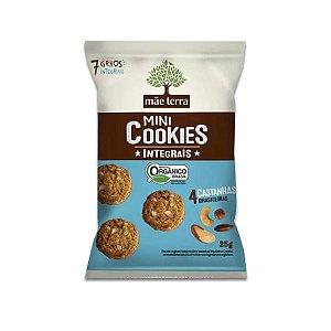 Mini Cookies Integrais E Orgânicos 4 Castanhas Mãe Terra 25g