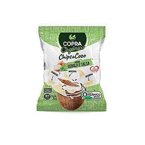 Chips De Coco Orgânico, Sem Açúcar Sabor Cebola E Salsa Copra 20g