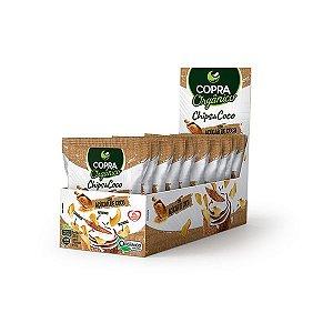 Chips De Coco Orgânico, Com Açúcar De Coco Copra Contendo 10 Pacotes De 20g Cada