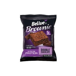 Brownie Belive Be Free Protein Double Chocolate Sem Glúten 40g