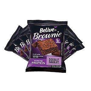 Brownie Belive Be Free Protein Double Chocolate Sem Glúten Contendo 10 Unidades De 40g Cada