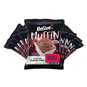 Muffin Belive Be Free Double Chocolate Sem Glúten, Açúcar E Lactose Contendo 10 Unidades De 40g Cada