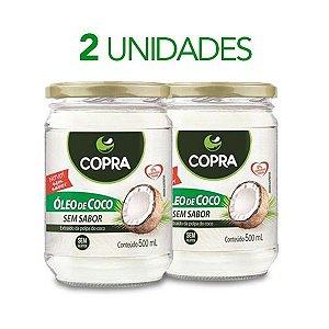 2x 500ml ÓLEO DE COCO  SEM SABOR COPRA