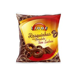 Rosquinhas De Chocolate Sem Lactose Liane 400g