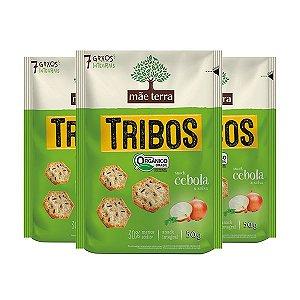Tribos Cebola E Salsa Multigrãos Mãe Terra 3 Pacotes De 50g Cada