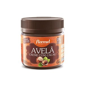 Creme De Avelã Com Cacau Zero Açúcar Flormel Pote