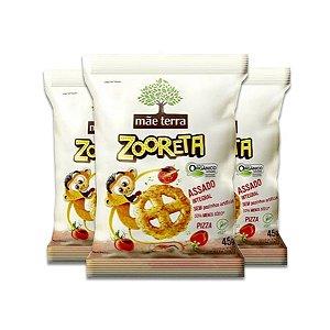 Salgadinho Pitzo Mãe Terra Natural Contendo 3 Pacotes De 45g Cada