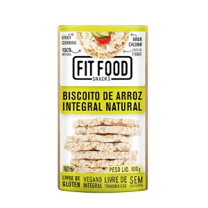Biscoito De Arroz Integral Natural Fitfood 100g