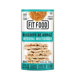 Biscoito De Arroz Integral Multigrãos Fitfood 100g