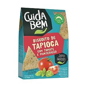 Biscoito De Tapioca Com Tomate E Manjericão Cuida Bem 50g