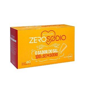 Salgante Zerosodio Nutricare 100% Sem Sódio Contendo 60 Sachês De 1g Cada