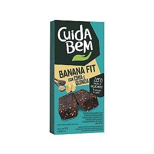 Banana Fit com Chia e Quinoa Cuida Bem Zero Açúcar Contendo 3 unidades de 20g cada
