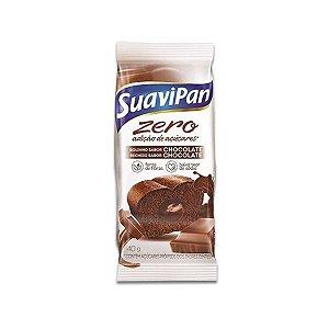 Bolinho Suavipan Zero Açúcar Chocolate Recheado Com Chocolate 40g