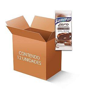Bolinho Suavipan Zero Açúcar Chocolate Recheado Com Chocolate Contendo 12 Unidades De 40g Cada