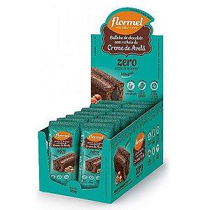 Bolinho Integral Chocolate Recheado Com Creme De Avelã Zero Açúcar Flormel Contendo 14 Unidades De 40g Cada