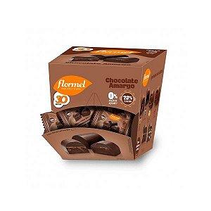 Bombom Flormel Chocolate Amargo 72% Cacau Zero Açúcar Contendo 18 Bombons