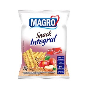 SNACK INTEGRAL MAÇÃ E CANELA MAGRO 35g