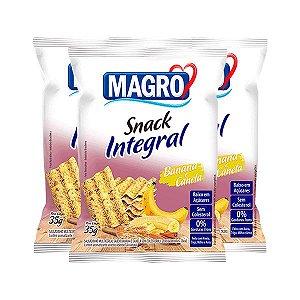 Snack Integral Banana E Canela Magro Contendo 3 Pacotes De 35g Cada