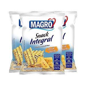 Snack Integral Queijo Nacho Magro Contendo 3 Pacotes De 35g Cada