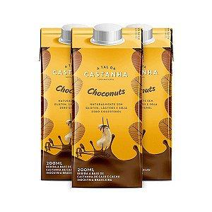 A TAL DA CASTANHA CHOCONUTS CONTENDO 3 UNIDADES DE 200ml CADA