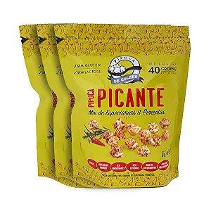 Pipoca Picante Mix De Especiarias E Pimentas Sem Lactose E Glúten Pipoca De Colher Contendo 3 Pacotes De 20g Cada