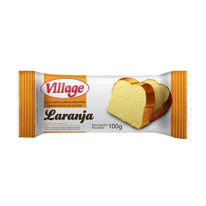 Bolo Sem Lactose Village Laranja 100g