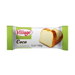 Bolo Sem Lactose Village Coco 100g