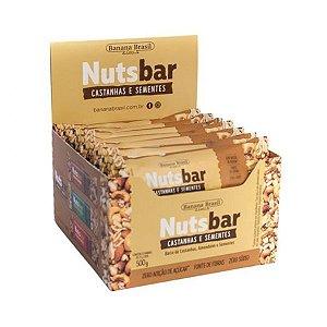 Nuts Bar Castanhas E Sementes Zero Açúcar Contendo 12 Unidades De 25g Cada