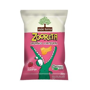 Biscoito Zooreta Orgânico E Integral Mãe Terra Morango Contendo 20g