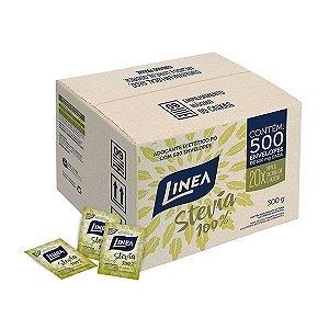 Adoçante 100% Stevia Linea Contendo 500 Envelopes De 600mg Cada