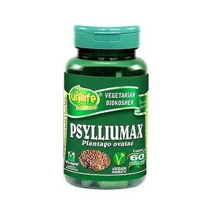 Psyllium Plantago Ovatae Psylliumax Unilife Contendo 60 Cápsulas De 500mg Cada