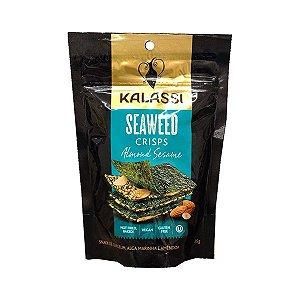 Seaweed Crisps Kalassi Almond Sesame - Snack Algas Marinhas Com Amêndoas 25g