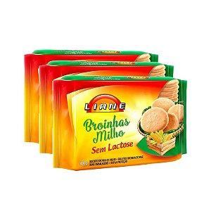 Broinhas De Milho Sem Lactose Liane Contendo 3 Pacotes De 400g Cada