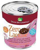 Doce De Leite Com Cacau Brigadeiro De Colher Zero Lactose E Zero Açúcar São Lourenço 345g